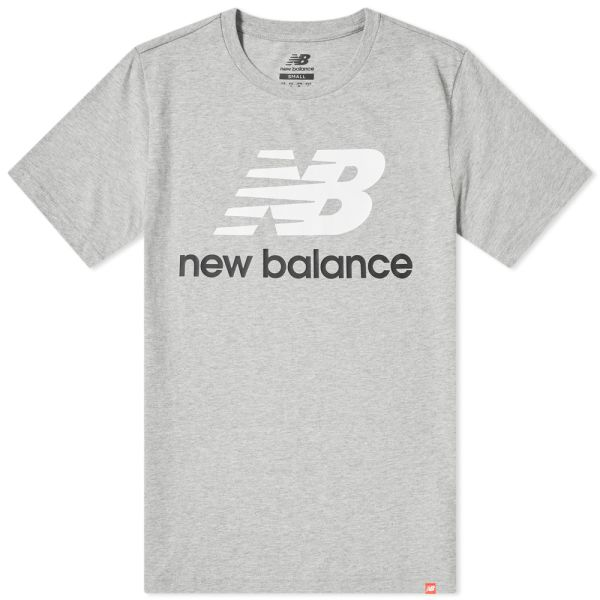 New Balance Essentials Stacked Logo T