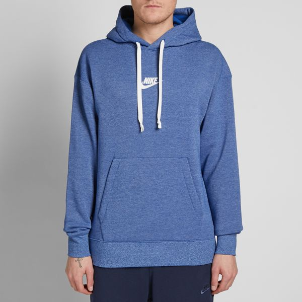 Nike Heritage Pullover Hoody Indigo, Heather & Sail | END.