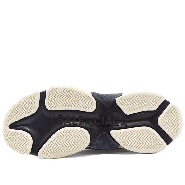 Balenciaga Triple S Knit High Trainer Black Red White Ht090