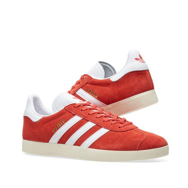 Adidas Gazelle Tactile Red, White