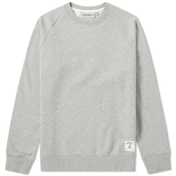 round Neck Sweater for Men Carhartt Wip Holbrook Sweater Crew White