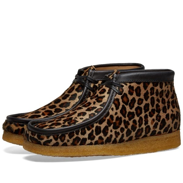 Clarks Wallabee Boot Damen Originals Stiefel Schwarz Leder