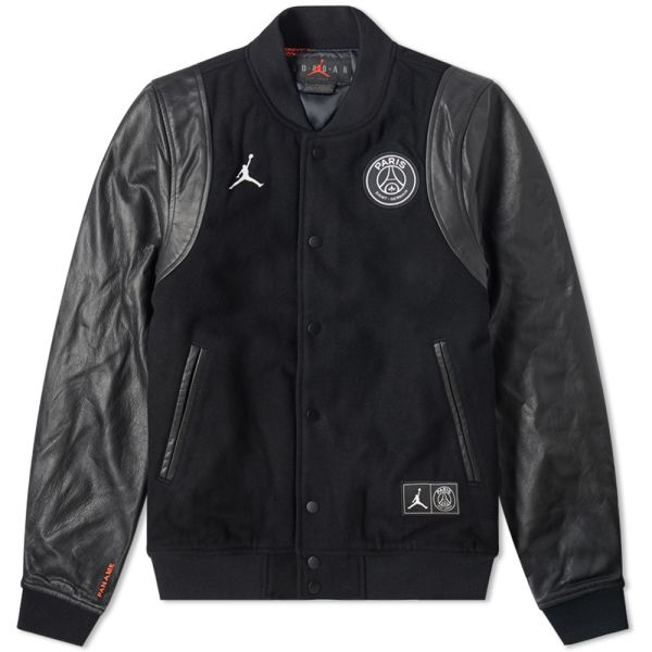 Air Jordan x PSG Varsity Jacket Black