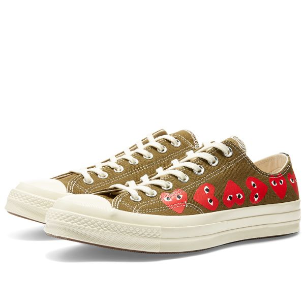 Chuck Taylor Low Multi Hearts Comme des Garcons Play x