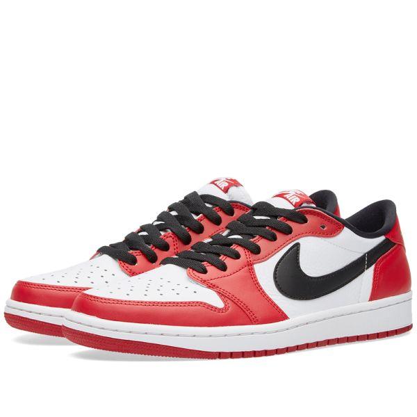 Detectable Valle Abrumar  Nike Air Jordan 1 Retro Low OG Varsity Red, Black & White | END.