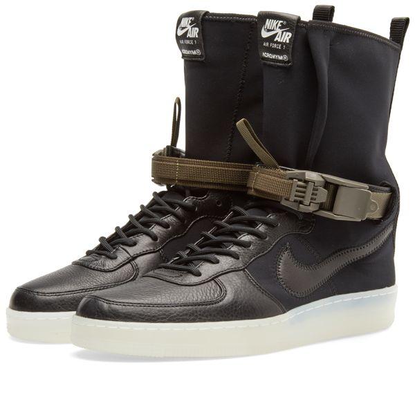 Nike AF1 Downtown HI SP Acronym Black AIR Force 1 NikeLab 649941 006 sz 10.5