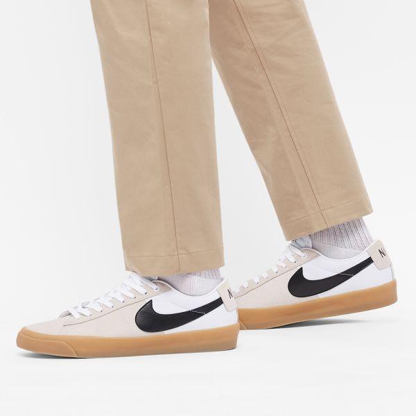 Nike SB Zoom Blazer Low Pro GT White, Black, Gum & Brown   END.