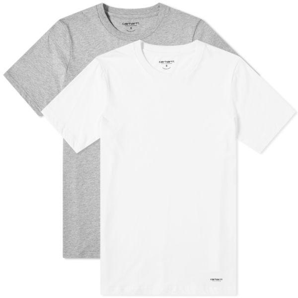 White Small CARHARTT STANDARD CREW NECK T-SHIRT