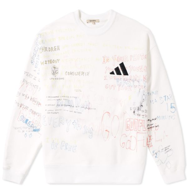 Yeezy Season 5 Handwriting Adidas Crew Sweat