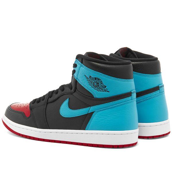 Air Jordan 1 Hi Og W Black Blue Red End
