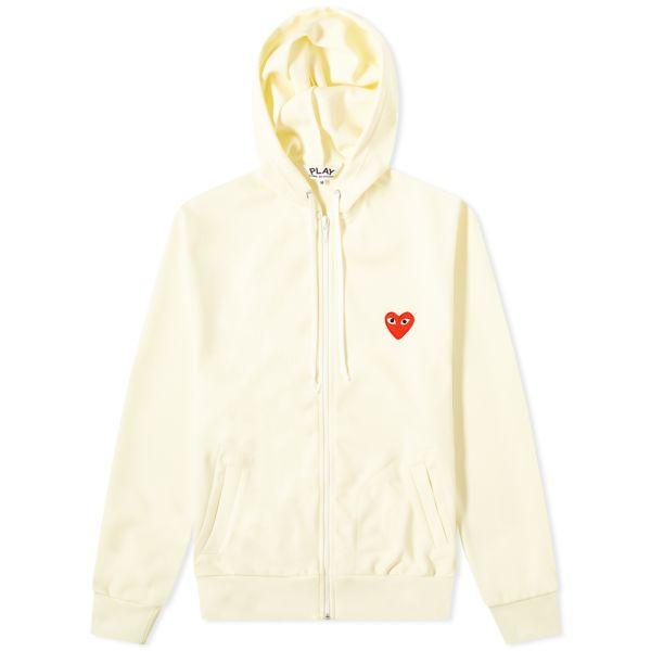 comme des garcons zip up hoodie jacket