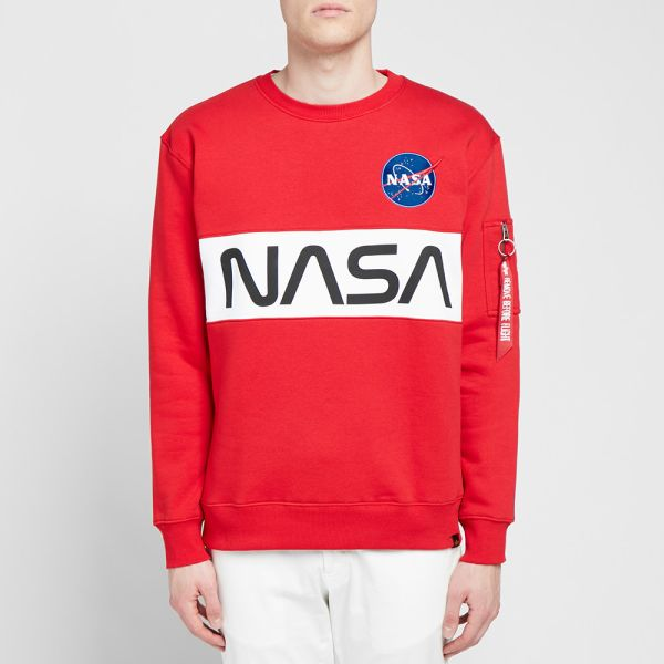 Alpha Industries NASA Inlay Sweater Sweats//Sweats Red