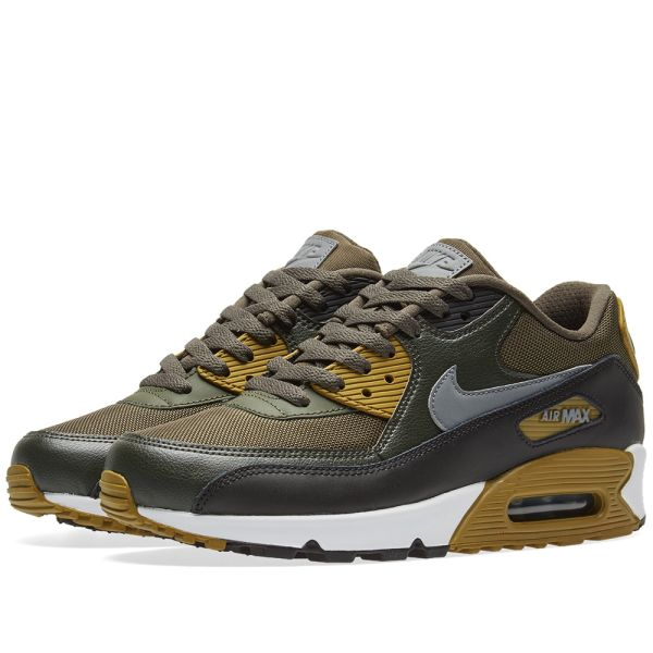 best deals on nice shoes detailed look Nike Air Max 90 Essential Cargo Khaki, Cool Grey & Black | END.