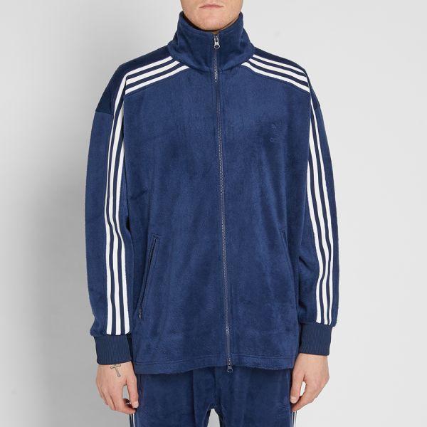 Buy navy adidas track jacket 63% OFF
