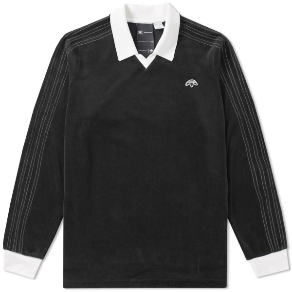 no sale tax wholesale thoughts on Adidas x Alexander Wang Velour Long Sleeve Polo