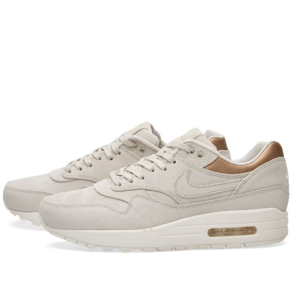 Nike W Air Max 1 Premium Gamma Grey & Metallic Gold | END.