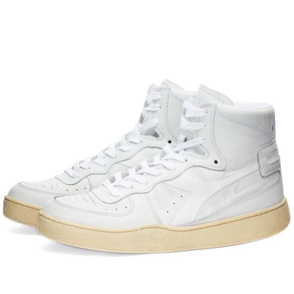 Diadora MI Basket Used White \u0026 White   END.