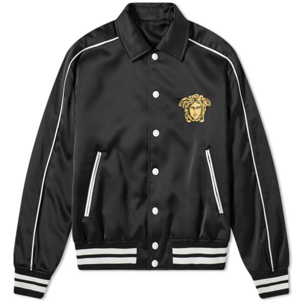 Adidas Clover Logo Men's Varsity Jacket Black