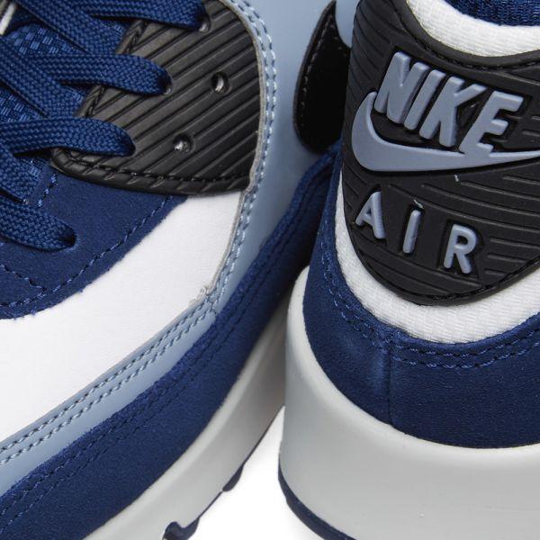 Nike Air Max 90 Leather Blue, Black, Slate & Platinum | END.