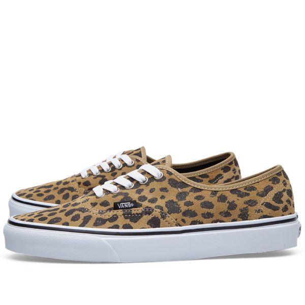 Vans Authentic Leopard Dark Khaki | END.