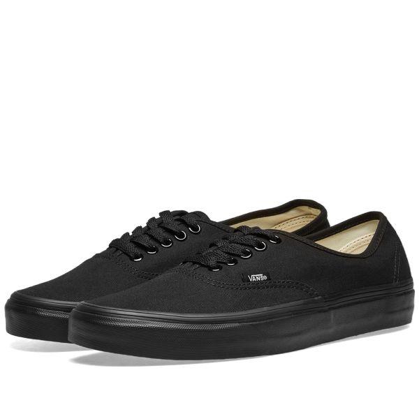 all black low vans