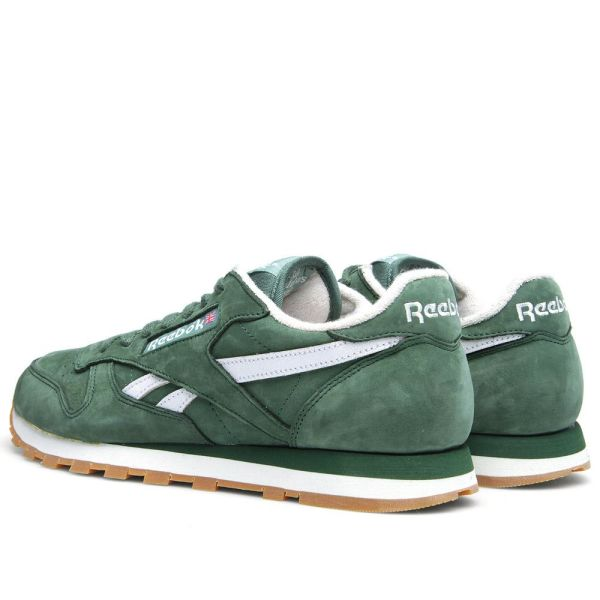 conservador papi Vacaciones  Reebok Classic Leather Vintage Racing Green & White | END.