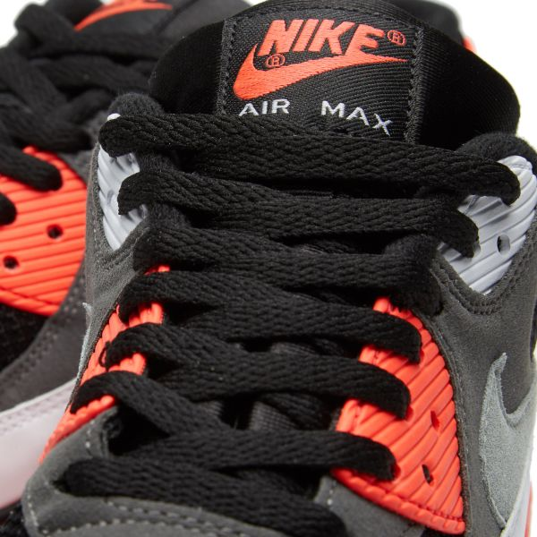 NIKE AIR MAX 90 OG 'REVERSE INFRARED' Black, Neutral & Dark Grey