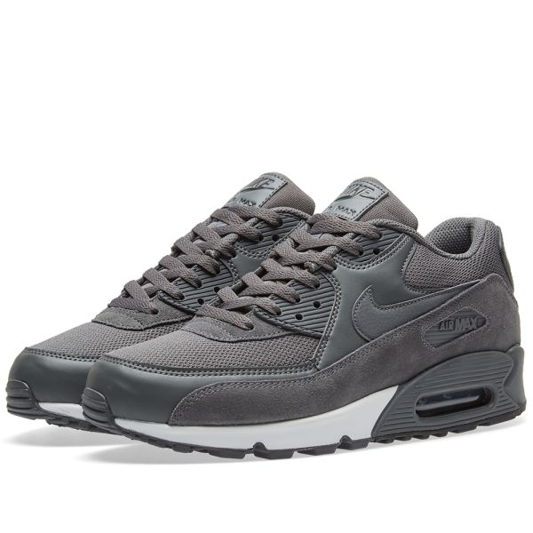 Nike Gray Air Max 90 Essential Black Dark Grey white for men