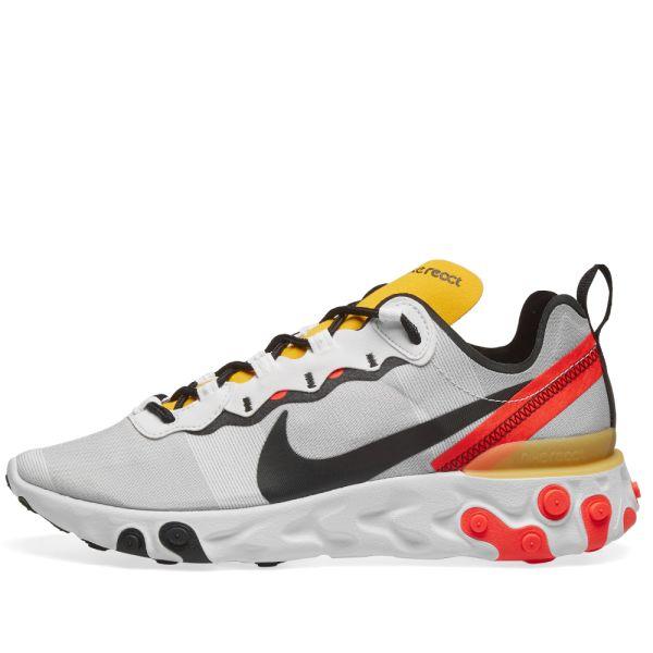 Nike React Element 55 White, Black