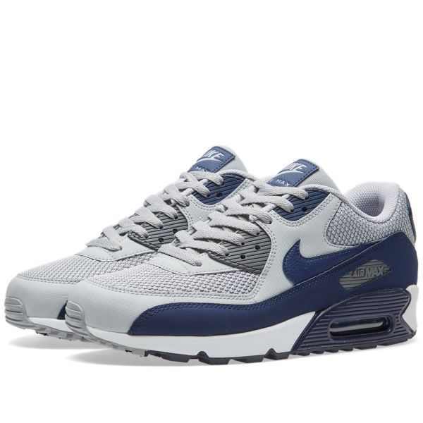 air max 90 essential blanche et bleue