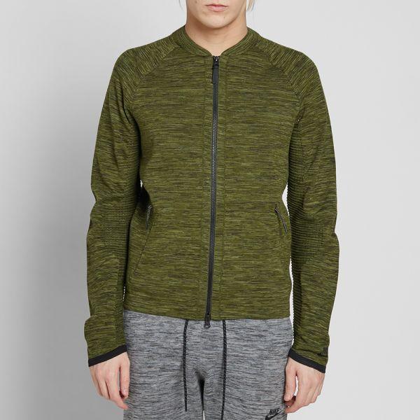 Nike Mens Tech Pack Knit Two-Way Zip Jacket Legion Green