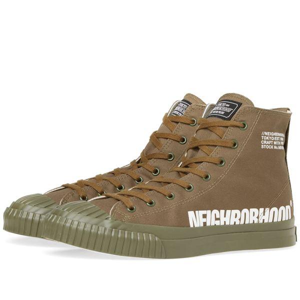 Neighborhood G.R Hi Sneaker Olive Drab
