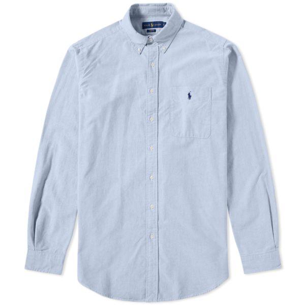 Klimatberg Stadsblomma Folkomröstning  Polo Ralph Lauren Classic Pocket Oxford Shirt Blue | END.