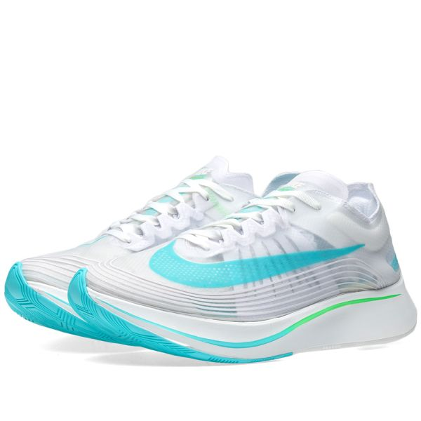 ir a buscar boca Abandonado  Nike Zoom Fly SP White, Rage Green & Summit | END.
