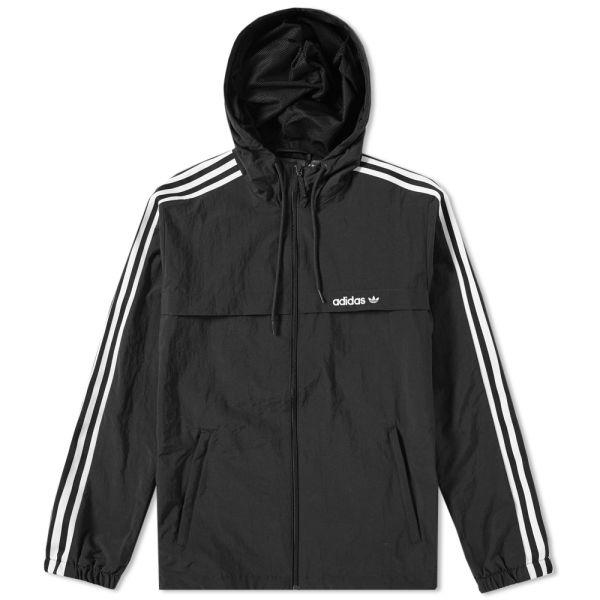 3 Stripe Windbreaker Black