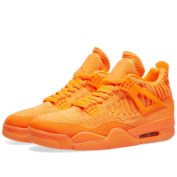 air jordan 4 flyknit trainers total orange total orange