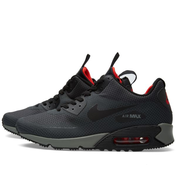 nike air max 90 mid winter print anthracite red