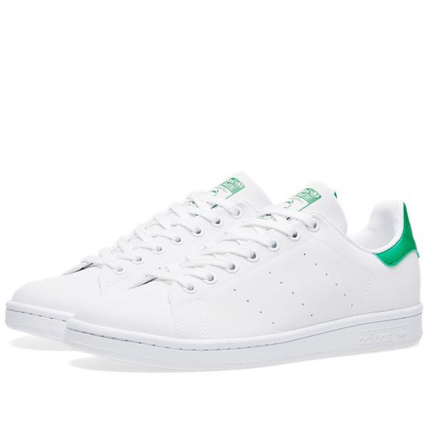 Stan Smith Reflective W White \u0026 Green