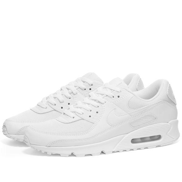Nike Air Max 90 White \u0026 Wolf Grey | END.