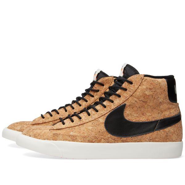 Nike Blazer Mid 'Cork' Natural \u0026 Black | END.