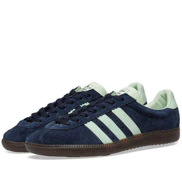 Alfombra Típicamente libertad  Adidas SPZL Padiham Night Navy & Mist Jade   END.