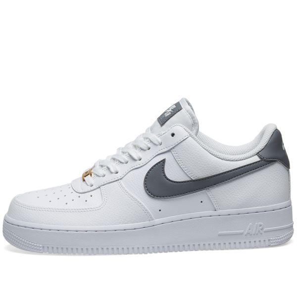 nike air force grey white