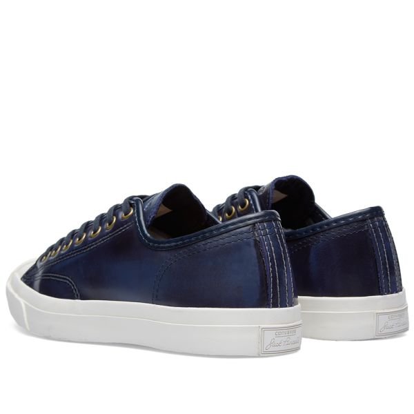águila borracho Párrafo  Converse Jack Purcell Burnished Leather Victoria Blue | END.