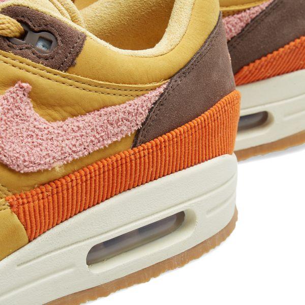 nike air max 1 wheat gold rust pink &