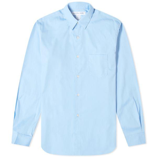 cdg button up shirt