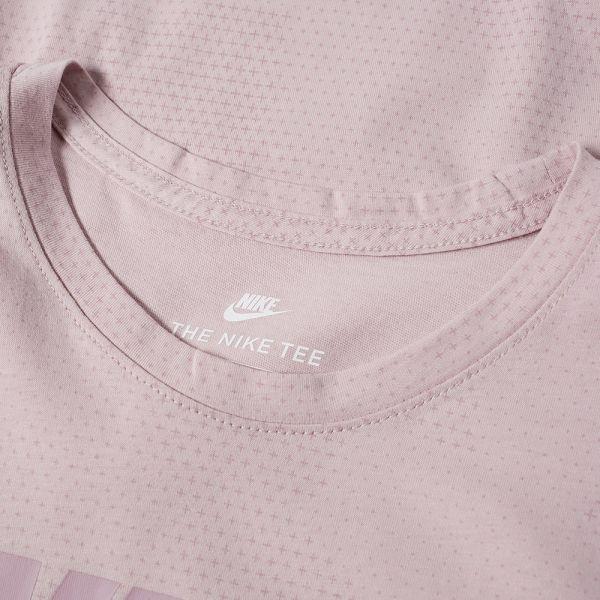 Nike Sportswear Printed Tee Men New T-Shirt Particle Rose Cotton 913238-684