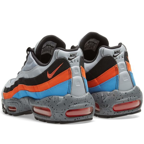 Nike Air Max 95 Premium Wolf GreySafety Orange University Blue Best