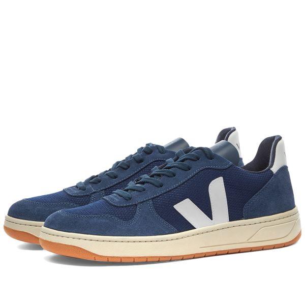 en lugar Radioactivo profundidad  Veja V-10 Suede & Mesh Basketball Sneaker Navy & Gum | END.
