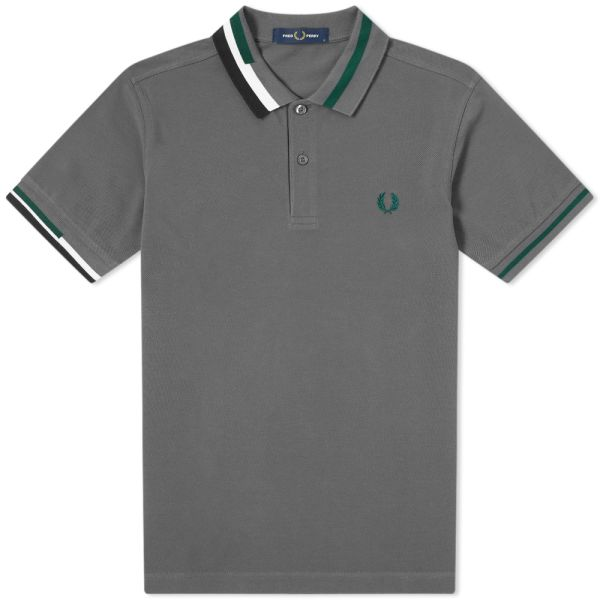 Fred Perry Mens Abstract Collar Shirt