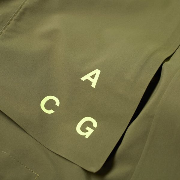 Acg Gore tex® Hard Shell Parka In Olive Canvas